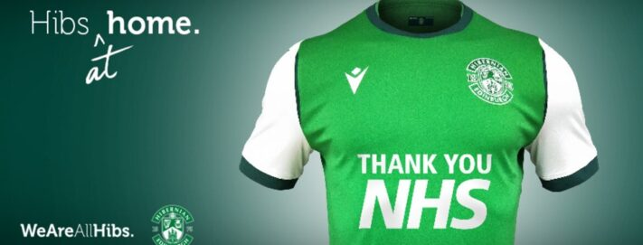Hibernian FC and their fans raise £36,000 to support our NHS Heroes to date