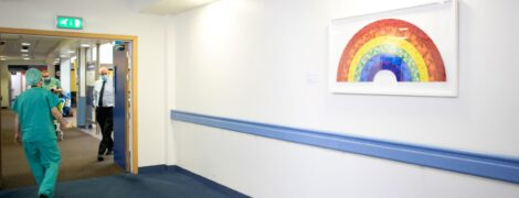 World-famous artist Damien Hirst says thank you to NHS staff with stunning butterfly rainbow print